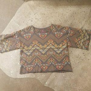 Johnny Was Embroidered Sweatshirt